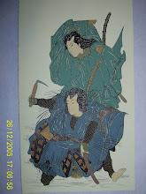 14.Scena de teatru kabuki  15,5x27cm