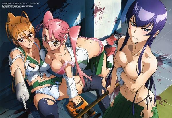 recomendacion anime ''HIGHSCHOOL OF THE DEAD'' Highschool-of-the-dead-001