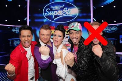 Gruppenbild DSDS Top 5 Kandidaten 2010