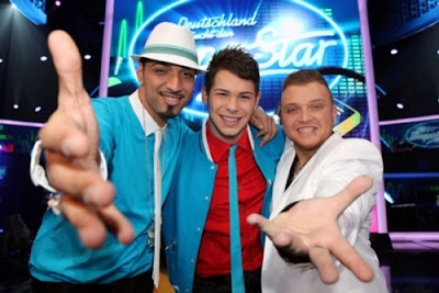 Gruppenbild DSDS Top 3 Kandidaten 2010