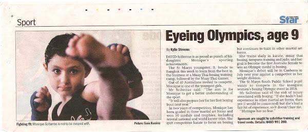 Eyeing Olympics, Age 9