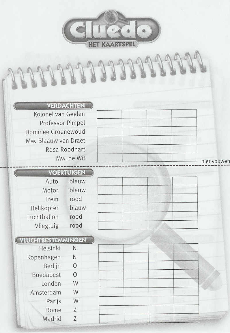 Cluedo Score Sheet Template | New Calendar Template Site