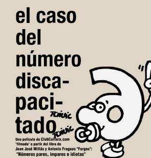 Captura del montaje sobre EL CASO DEL NÚMERO DISCAPACITADO, objeto de este artículo