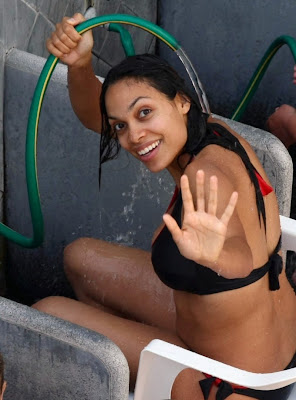Latin Celebs photo of Rosario Dawson in a swimsuit