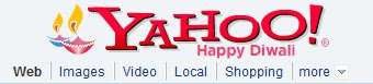 Photo of Yahoo diwali home page greeting