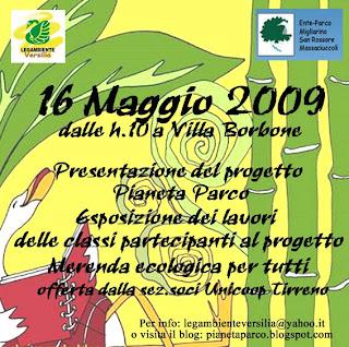 Evento finale progetto di educazione ambientale Villa Borbone