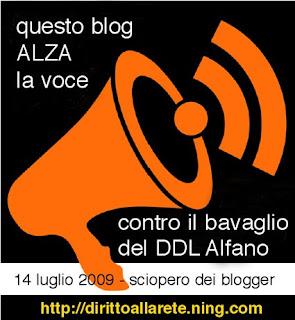 Sciopero contro DDL Alfano