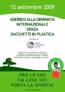Porta la Sporta: giornata senza sacchetto di plastica