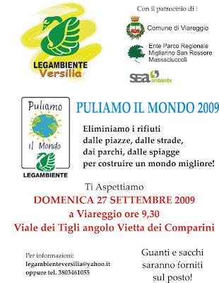 Puliamo il Mondo 2009 Viareggio