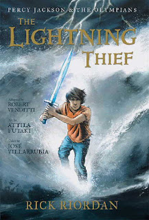lightning+thief+graphic+novel Fantasy series get graphic