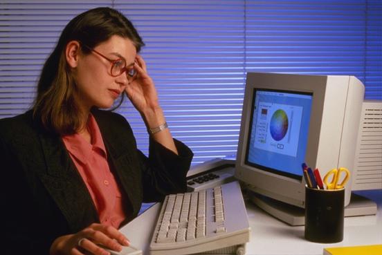 la santé des yeux et l'écran de l'ordinateur