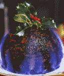 Christmas plum pudding color photograph