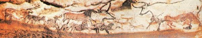 a color photograph of a section of the Lascaux caves from the Dordogne region of France