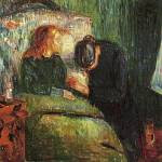 The Sick Child by Edvard Munch, fourth version color painting
