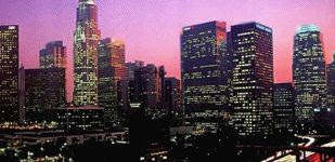 Los Angeles nighttime skyline