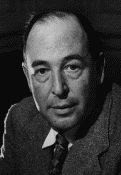 Clive Staples 'Jack' Lewis aka C S Lewis circa 1947 black and white photograph by Arthur Strong