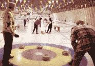 color photograph of Curling game