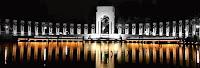 The World War II Memorial in Washington, DC night view