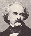 black and white photograph of Nathaniel Hawthorne