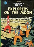 The front cover of 'Explorers on the Moon' by Georges 'Hergé' Remi.