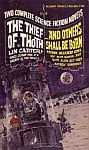 The front cover of 'The Thief of Thoth' by Lin Carter and '...and Others Shall be Born' by Frank Belknap Long.