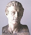 A color photo of a bust of Ptolemy II Philadelphus.