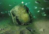 A color photo of a part of underwater Ancient Alexandria.