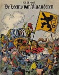 A color photo of the front cover of an early reprint edition of 'De Leeuw van Vlaanderen' by Bob De Moor.