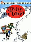 A color photo of the front cover of the 'Tintin in Tibet'.