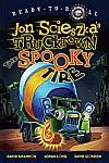 A color photo of the front cover of 'The Spooky Tire' by Jon Scieszka.