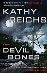 A color photo of the front cover of 'Devil Bones' by Kathy Reichs.