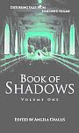 A color photo of the front cover of 'The Book of Shadows, volume 1' edited by Angela Challis.