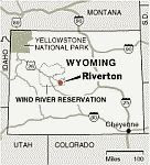 map of the Wind River Reservation
