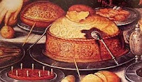 color photo of a standing pie detail from 'Lazarus and Dives' (1603) by Frans Franken