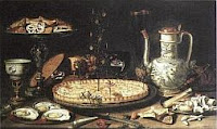 color photo of a 1615 still life with confection by Clara Peeters