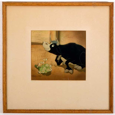 "From ""Ferdinand the Bull"" (1938). Cel of Ferdinand mounted on a production"