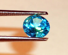 A beautiful topaz blue 1 carat brilliant cut