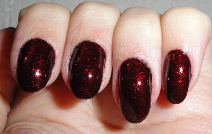 notd christmas nails - Black Christmas Nails