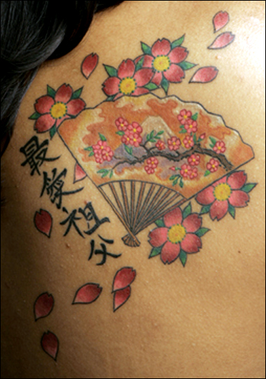 asian flower tattoo. flower tattoos design