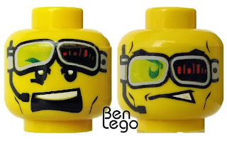 LEGO World Racers minifig head