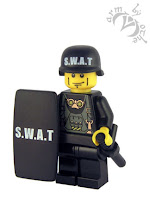 BrickForge SWAT print helmet and riot shield