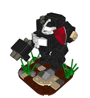 LEGO Warhammer 40K hardsuit by Becheman