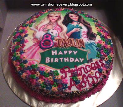 Decoration Of Barbie Cake : Barbie s Cake Decoration!! Twins Home Bakery