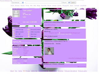Flower myspace layouts
