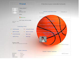 Basketball myspace layouts