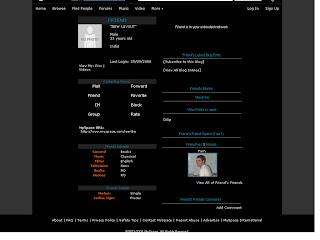 Plain Black Skinny Myspace Layouts