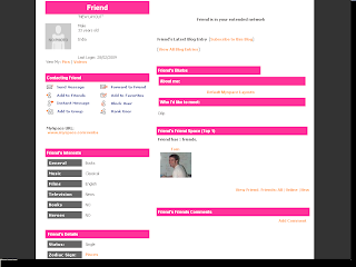 Plain Default Myspace Layouts
