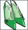 sapato+para+vestido+verde+6 SAIBA COMO COMBINAR ROUPA COM SAPATO