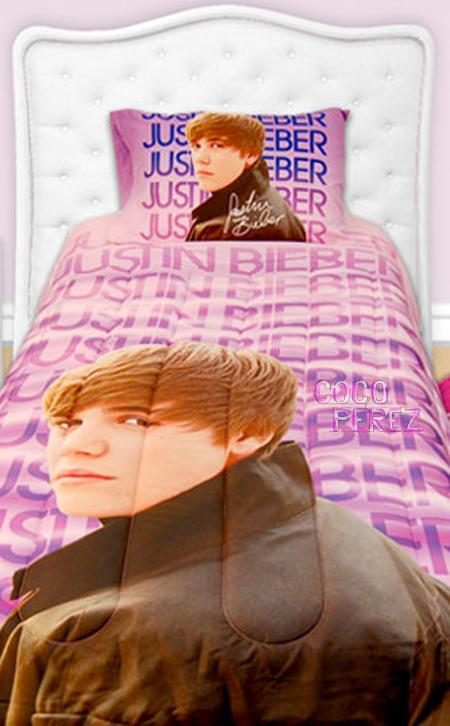 I'm really weirded out by the above Justin Bieber bed sheets and can only