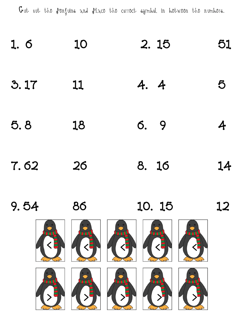 worksheet Winter Worksheets winter worksheets fun in first penguin comparisons